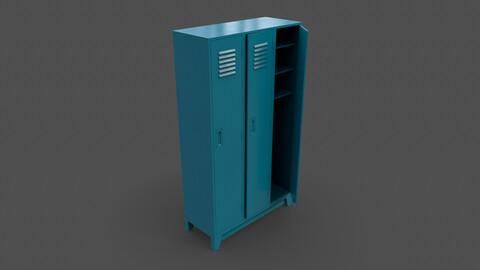 PBR School Gym Locker 08 - Blue Sea