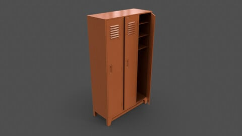 PBR School Gym Locker 08 - Orange