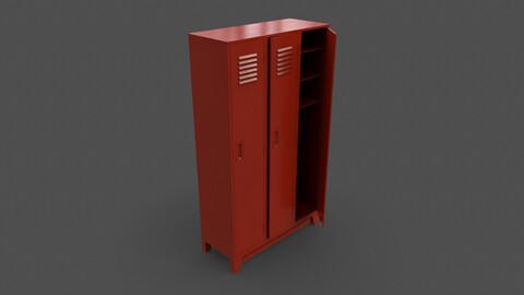 PBR School Gym Locker 08 - Red