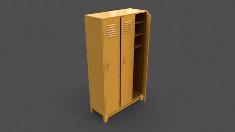 PBR School Gym Locker 08 - Yellow