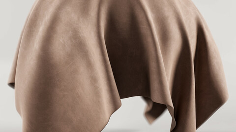 PBR - LIGHT BROWN LEATHER FABRIC - 4K MATERIAL