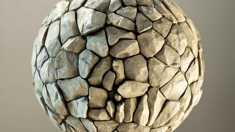 PBR - SOFT SAND ROCKS FLOOR, ROCKS - 4K MATERIAL