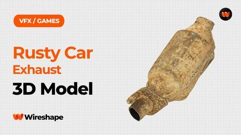Rusty Car Exhaust Raw Scanned 3D Model