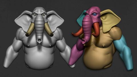 Basemesh - Stylized Elephant Character