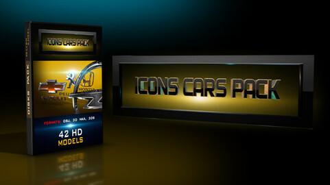 3D icons car