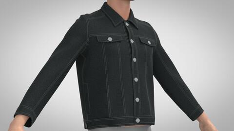 Denim Jacket, Marvelous Designer, Clo3d, +obj
