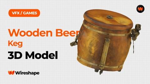 Wooden Beer Keg Raw Scanned 3D Model