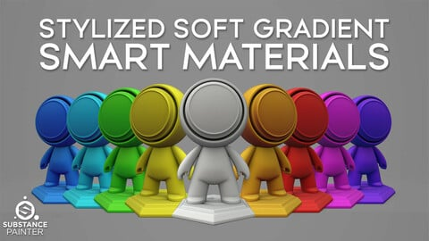 Stylized Soft Gradient Smart Material
