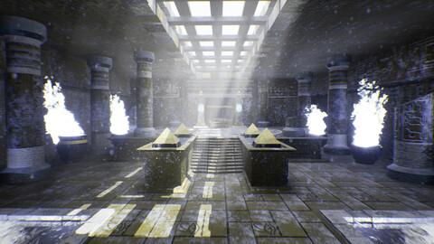 Frozen/Unfrozen Egyptian Temple
