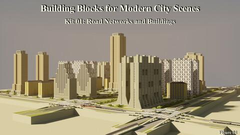 Building Blocks for Modern City Scenes – Kit 01