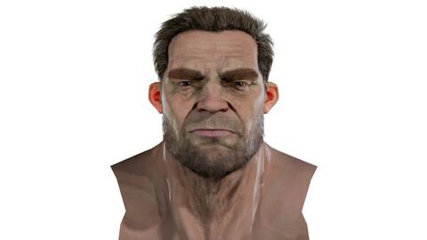 Marshall Realistic model of male head