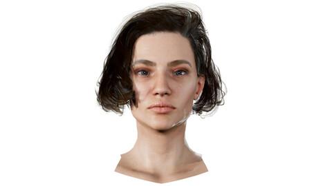 Anna Realistic model of female head