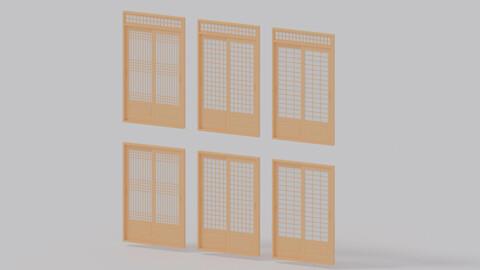 Korean Interior Door Collection 3D model