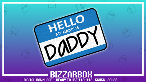 Twitch Emote: Daddy Name Tag