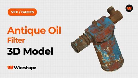 Antique Oil Filter Raw Scanned 3D Model