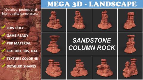 Low poly Sandstone Column 210907