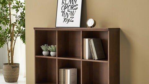 Oteca Solid Wood Bookcase Low 1200