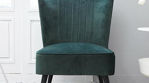 Interior velvet tiara single sofa