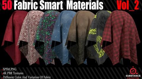 50 Fabric Smart Material + 4K PBR Texture Vol_2
