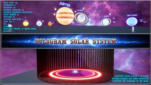 Hologram Solar System. Game Asset. Unreal Engine 4.27