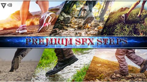 Premium SFX steps. Game SFX Asset. Unreal Engine 4.27