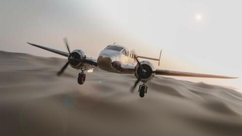 Beechcraft Model 18 3D model