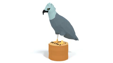 Low Poly Cartoon Harpy Eagle