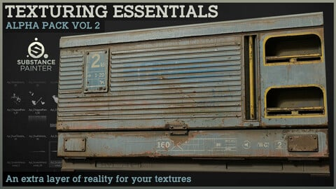 Texturing Essentials - Alpha pack Vol 2 for Substance Painter