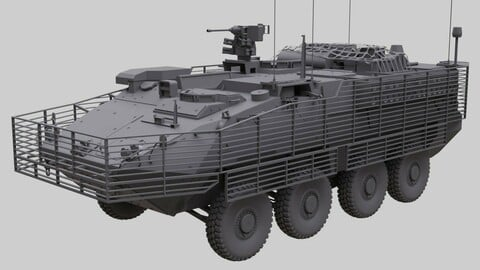 Stryker with full interior  US Army ICV
