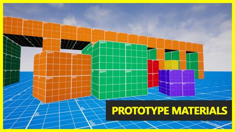 Prototype Materials | Unreal Engine 4 Asset