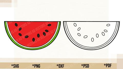 Watermelon Slice SVG, Cricut Cut File, Watermelon Slice PNG Printable, pdf, dxf, Watermelon Slice Digital Download