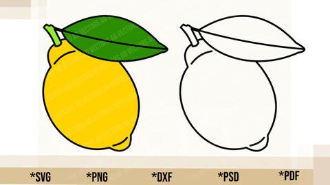 Lemon SVG, Cricut Cut File, Lemon PNG Printable, pdf, dxf, Lemon Digital Download