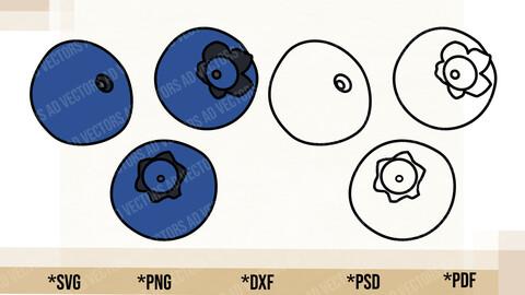 Blueberry SVG, Cricut Cut File, Blueberry PNG Printable, pdf, dxf, Blueberry Digital Download