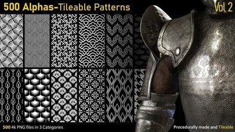 500 Alphas-Tileable Patterns-Vol2