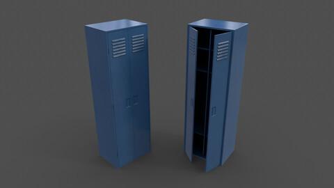 PBR School Gym Locker 09 - Blue Dark