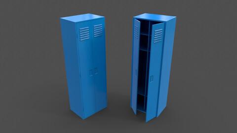 PBR School Gym Locker 09 - Blue Light