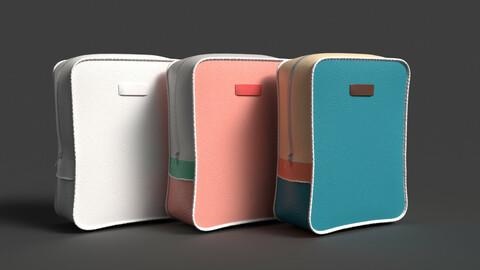 Fashion Art Leather backpack 3D model