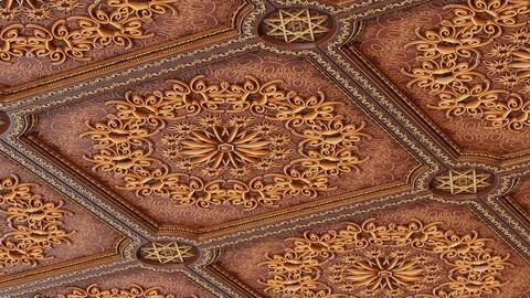 Ornate Wooden Ceiling Material - Substance Designer