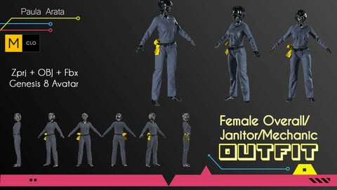 Female Overall/Janitor Marvelous/CLO project + OBJ