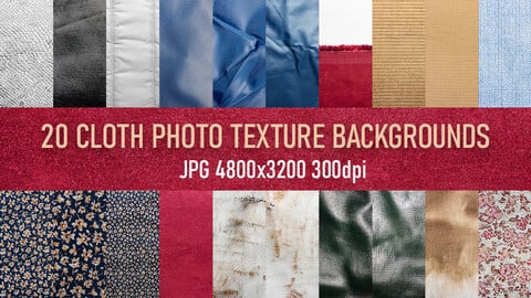 20 synthetic, bologna, corduroy, cotton fabric cloth texture photo backgrounds pack.