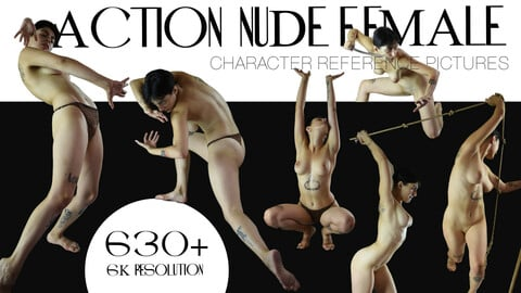 630+  ACTION NUDE FEMALE  POSES [Perfect For Illustration and Concept art  & Comics Art]