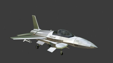 Low Poly Fighter Jet F16