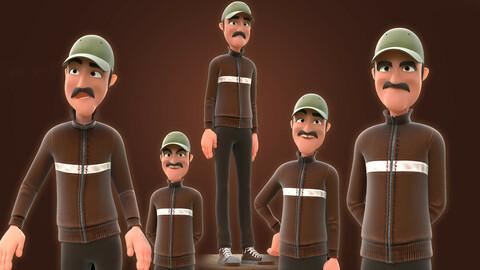 RIGGED CARTOON MAN - CARTOON BAD MAN 3D model