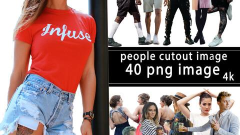 40 People image  - PNG Photo 4k