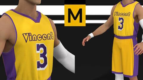 Basketbal uniform Marvelous Designer Project player football sompetition champion team gym athlete clothing