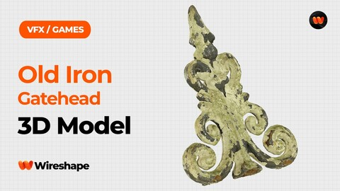 Old Iron Gatehead Raw Scanned 3D Model
