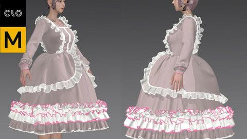 lolita suit Marvelous Designer project pretty girl dancing ballet elegant