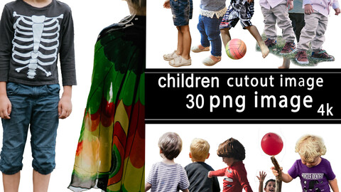 30 png image of children