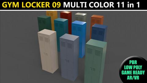 PBR School Gym Locker 09 - Multi color Pack