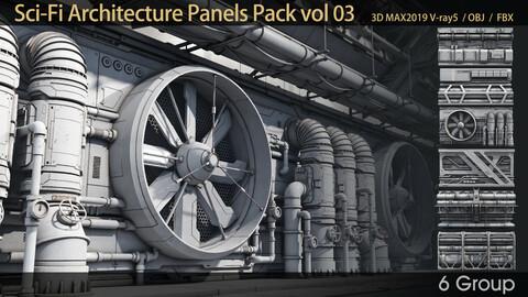 Sci-Fi Architecture Panels Pack vol 03